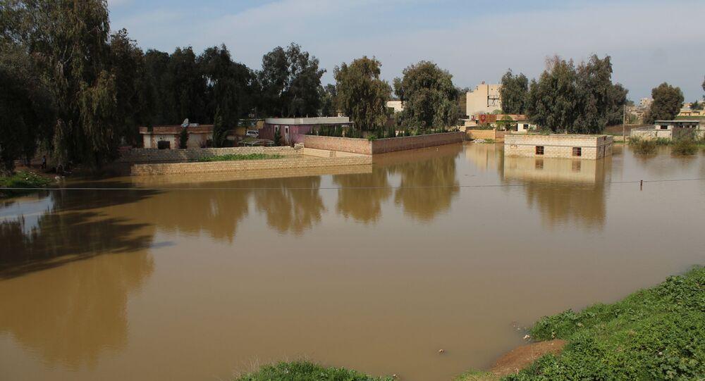 الأنهار والسدود في الحسكة جراء التعطيل الأمريكي لمشاريع المياه الاستراتيجية