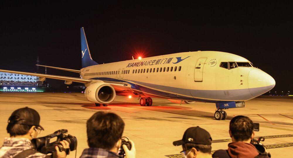 مطار ووهان الدولي في الصين
