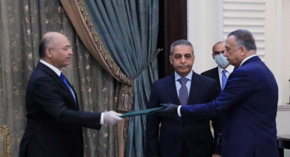 رئيس الوزراء العراقي مصطفى الكاظمي، 9 أبريل 2020