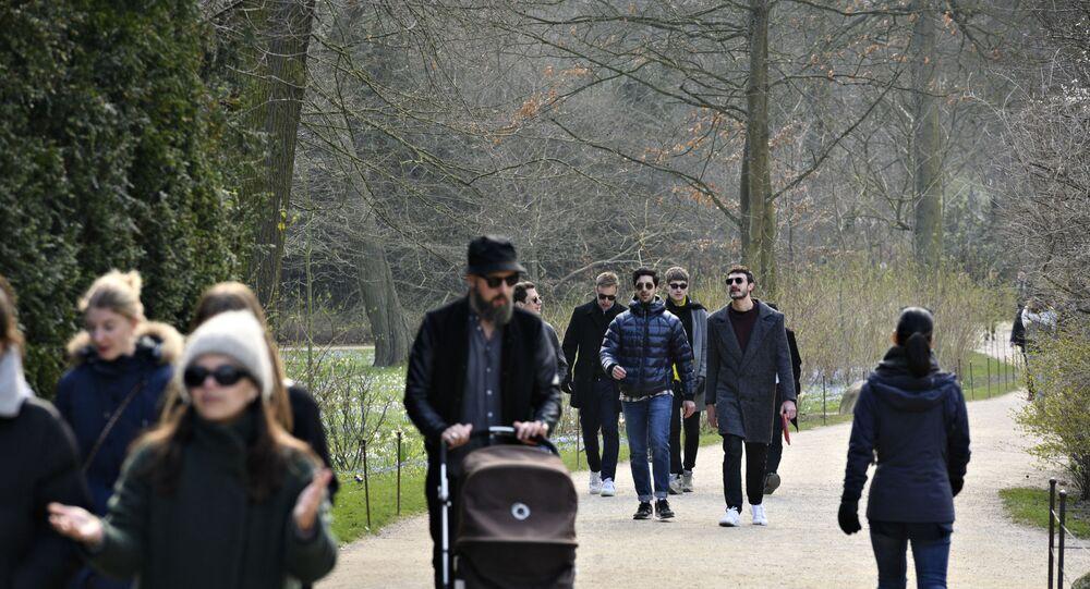 مواطنين في الدنمارك في حديقة عامة