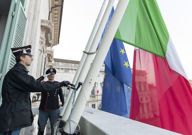 العلمين الإيطالي والأوروبي
