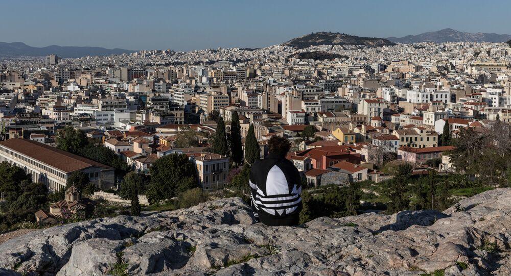 الوضع في منطقة أثينا، على خلفية تفشي كورونا في اليونان، 10 أبريل 2020