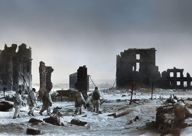 مركز ستالينغراد بعد التحرير من الغزاة النازيين، الحرب الوطنية العظمى 1941-1945
