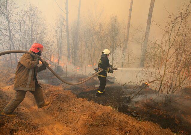 حريق في تشرنوبل