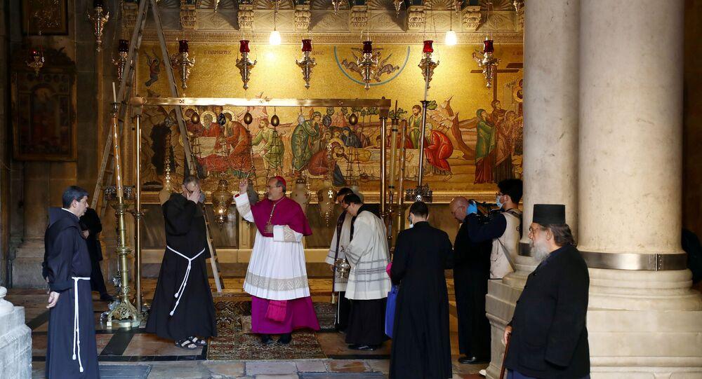 كنيسة القيامة في القدس، أبريل 2020