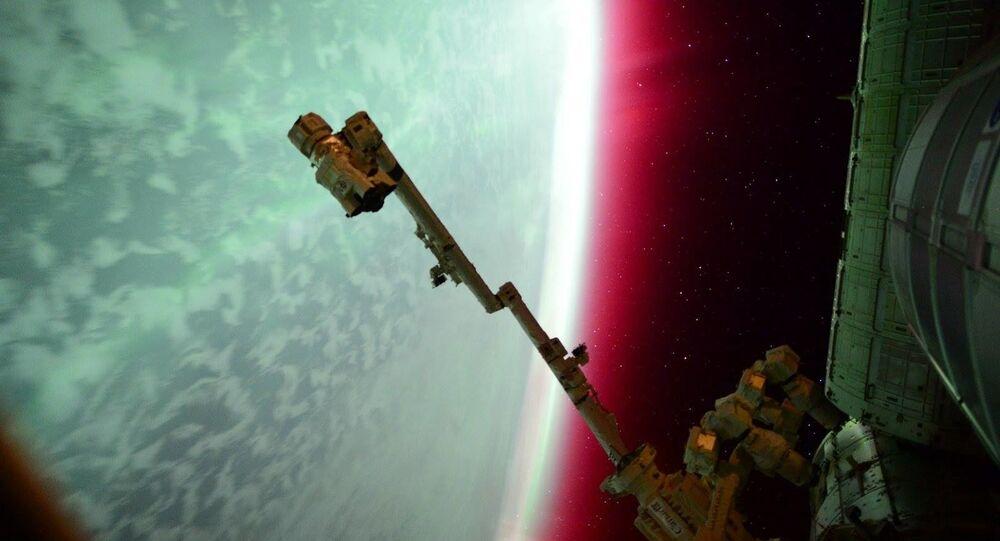 أضواء القطب الشمالي من محطة الفضاء الدولية