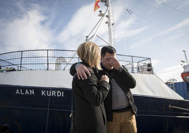 السفينة آلان كوردي الناقلة للمهاجرين عبر المتوسط إلى إيطاليا
