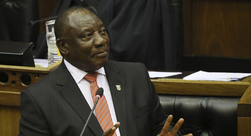 رئيس دولة جنوب أفريقيا سيريل رامافوزا