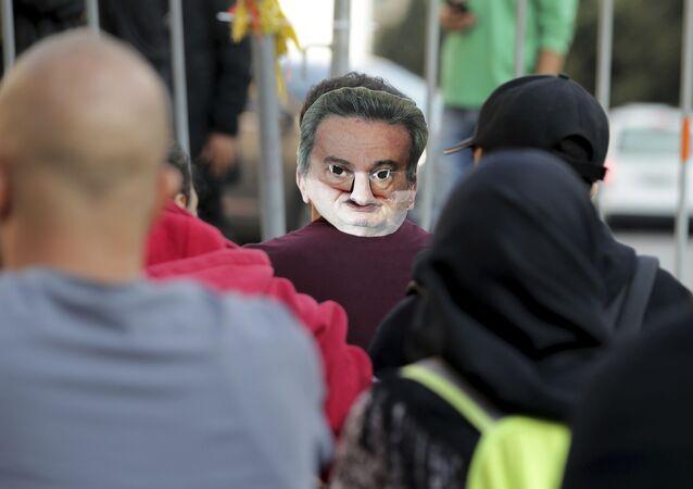 احتجاجات ضد حاكم مصرف لبنان في بيروت