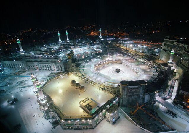 منظر جوي لمسجد الحرم الشريف في مكة، شهر رمضان، المملكة العربية السعودية 24 أبريل 2020