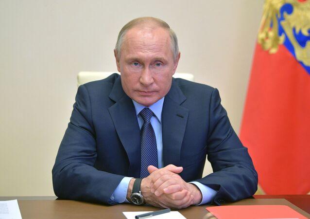 اجتماع الرئيس فلاديمير بوتين، موسكو 24 أبريل 2020