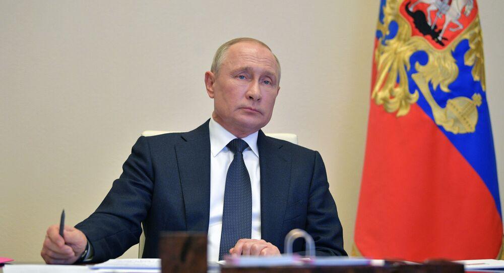 اجتماع الرئيس فلاديمير بوتين، موسكو 28 أبريل 2020