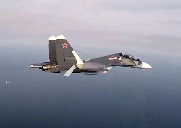 السلاح الجوي الروسي، الجيش الروسي، الطياران الروسي - مناورات سو-30 إس إم بحر البلطيق، روسيا 28 أبريل 2020