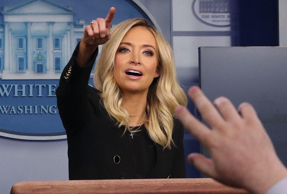 كايلي ماكيناني، المتحدثة الرسمية الجديدة باسم البيت الأبيض، واشنطن 1 مايو/ أيار 2020