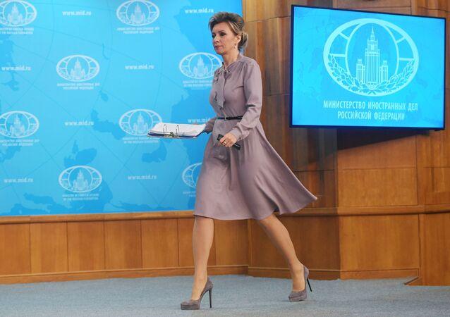 ماريا زاخاروفا، المتحدثة الرسمية باسم وزارة الخارجية الروسية، موسكو 8  نوفمبر 2019