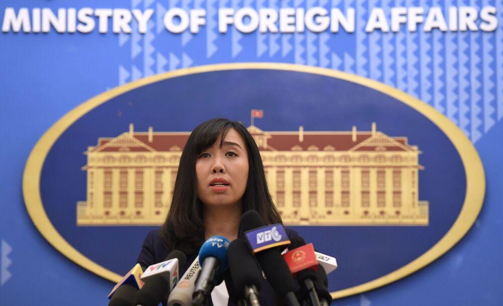 لي تهي تهو هانغ، المتحدثة الرسمية باسم وزارة الخارجية الفيتنامية، فيتنام 3  أغسطس 2017