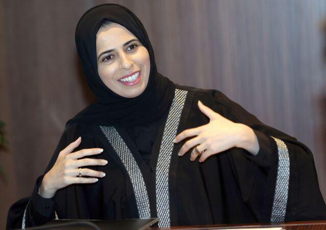 لولوة رشيد الخاطر، المتحدثة الرسمية باسم وزارة الخارجية القطرية، الدوحة 14  فبراير 2018