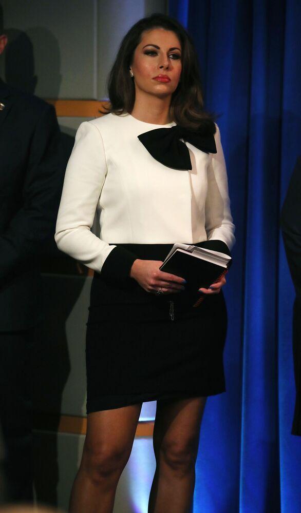 مورغان أورتاغوس، المتحدثة الرسمية باسم وزارة الخارجية الأمريكية، الولايات المتحدة 8  يوليو 2019