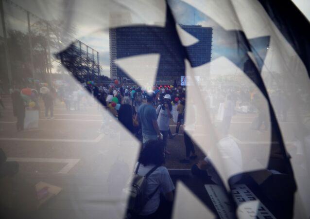 العلم الإسرائيلي، تل-أبيب، إسرائيل، 30 أبريل 2020