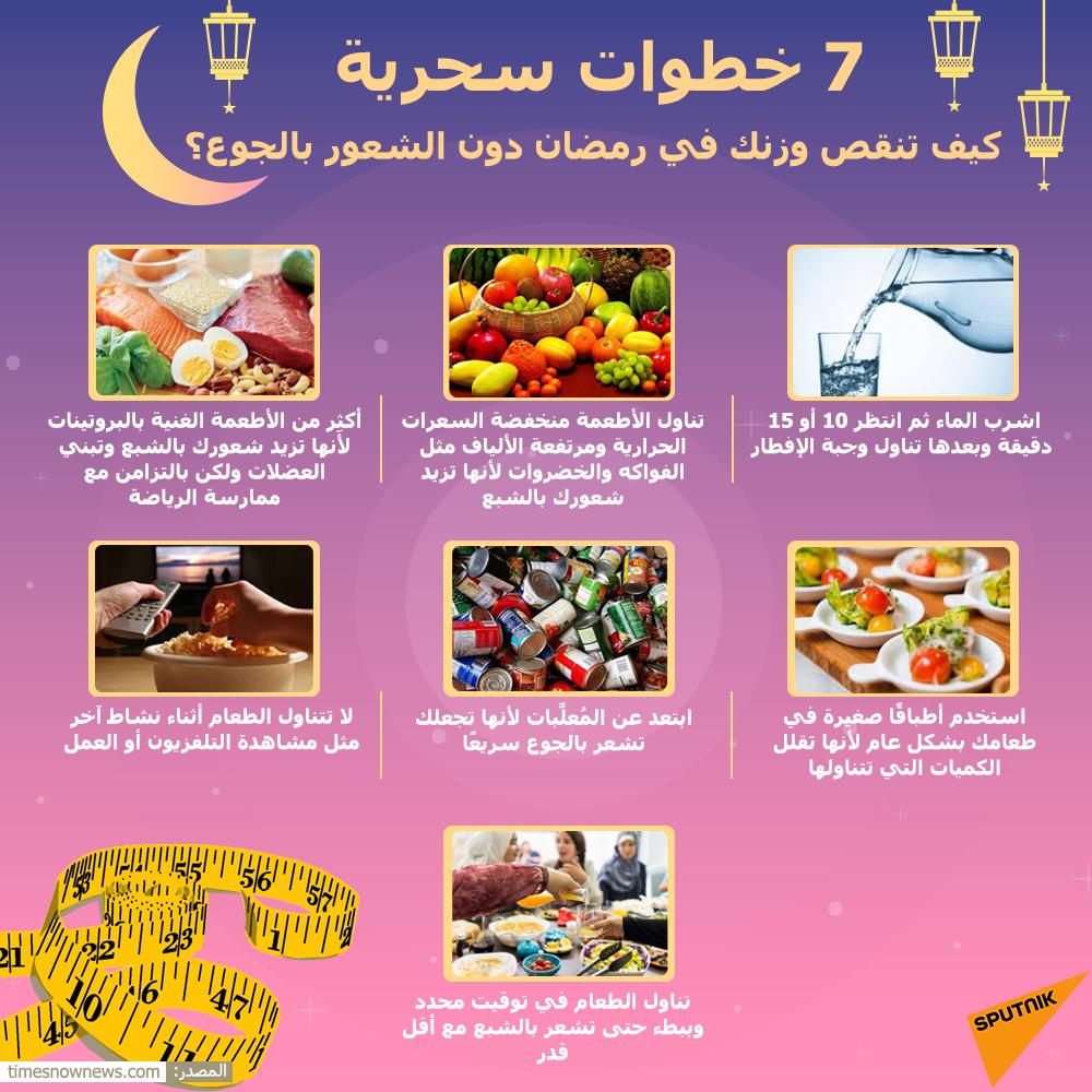كيف تنقص وزنك في رمضان دون الشعور بالجوع