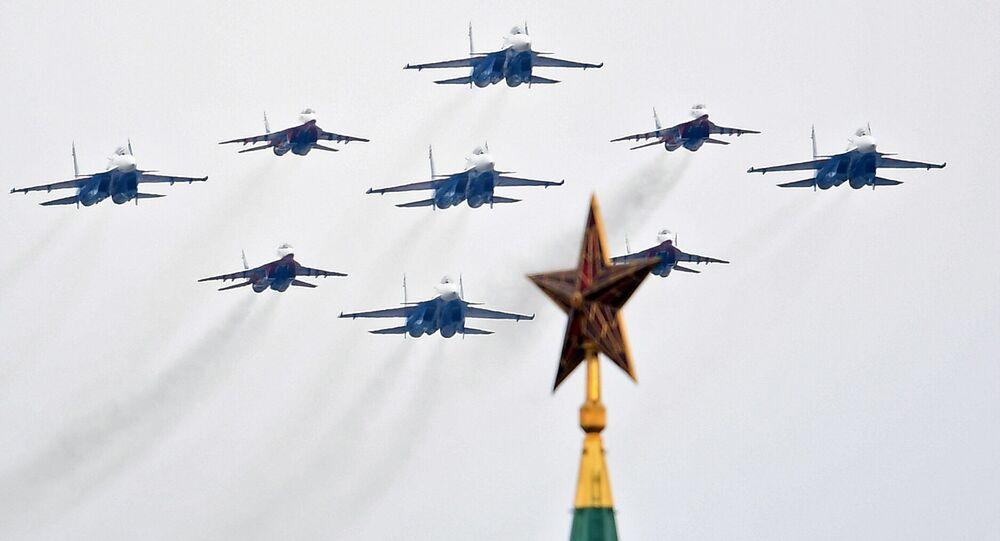 الاحتفالات بالذكرى الـ75 لعيد النصر و العرض العسكري الجوي في موسكو، 9 مايو 2020