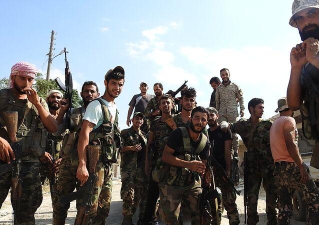 الجيش السوري في مدينة حماه