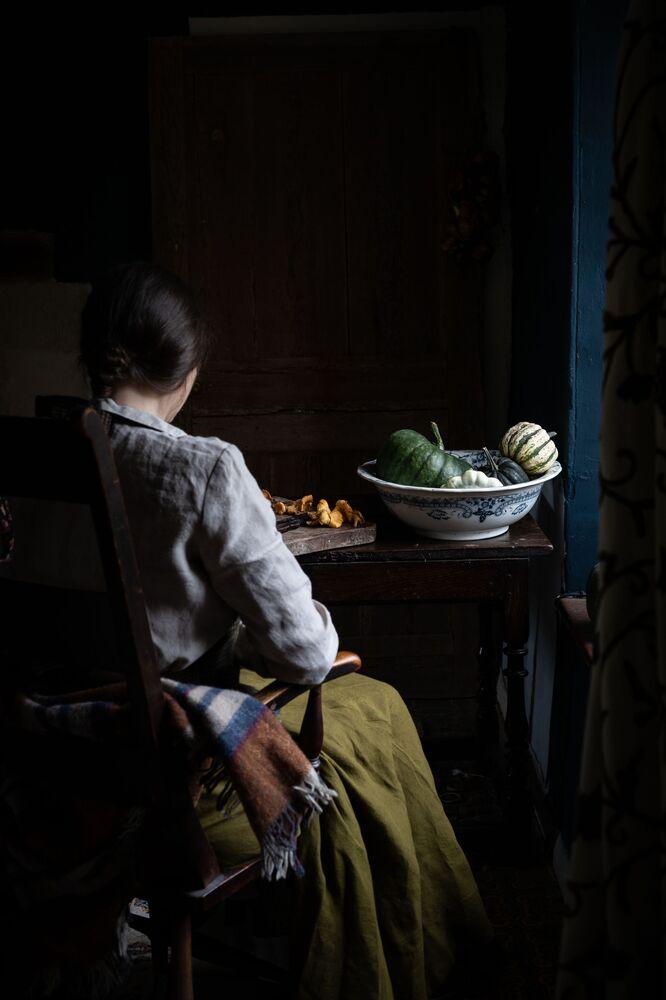 الصورة بعنوان طبق الاسكواش، للمصورة البريطانية آمي تويغر، الفائز في فئة مدونة التغذية من مسابقة Pink Lady® لأفضل مصور الطعام لعام 2020