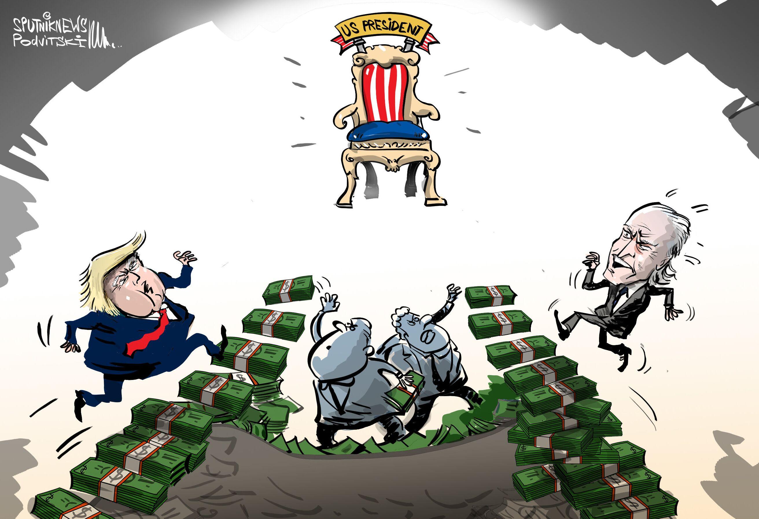 ترامب وبايدن يجمعان تبرعات بمقدار 60 مليون دولار