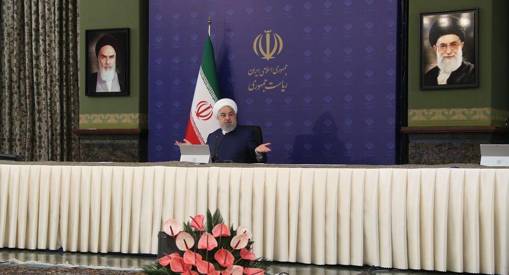 الرئيس الإيراني حسن روحاني، طهران، إيران 3 مايو 2020