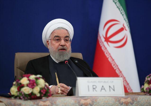 الرئيس الإيراني حسن روحاني، طهران، إيران 4 مايو 2020