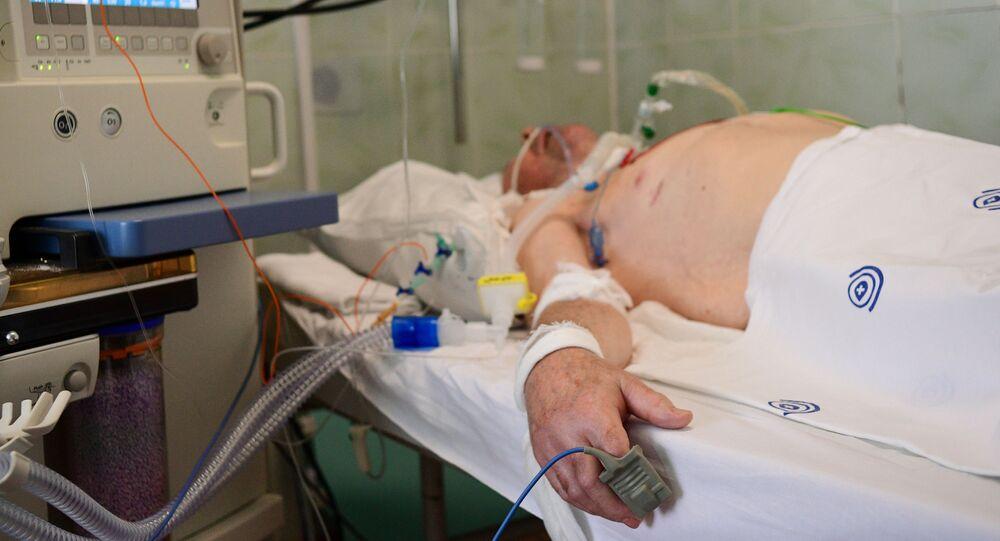 المستشفى السريري ف.ف. فينوغرادوفا المجهز لمعالجة مرضى كوفيد - 19 في موسكو، 12 مايو 2020