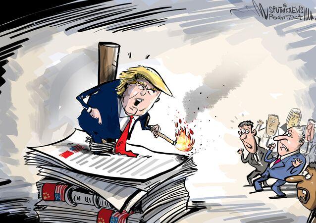 ترامب يهدد بقطع العلاقات مع الصين