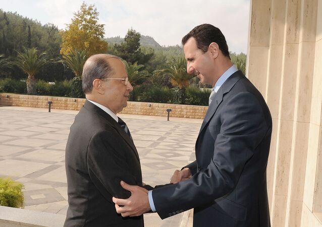 الرئيسين السوري واللبناني