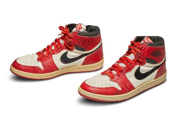 حذاء مايكل جوردن الذي حطم الرقم القياسي بالمبيعات