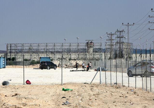 موقع تشييد المستشفى الأمريكي في بيت حانون، شمال قطاه غزة، 2019