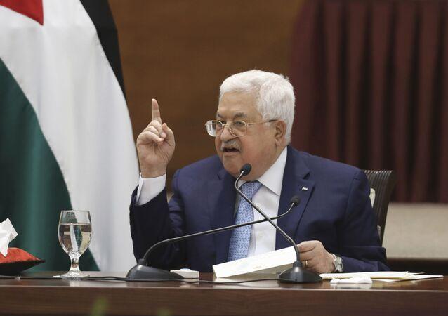 الرئيس الفلسطيني محمود عباس، مايو 2020