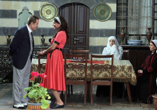 الفنان السوري بسام كوسا في أحد مشاهد المسلسل السوري سوق الحرير