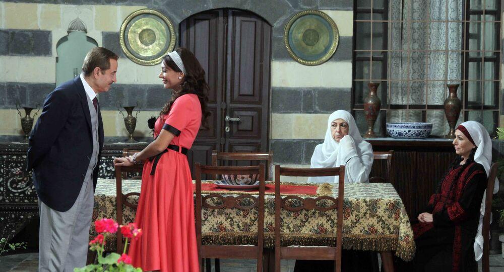 بسام كوسا في أحد مشاهد مسلسل سوق الحرير