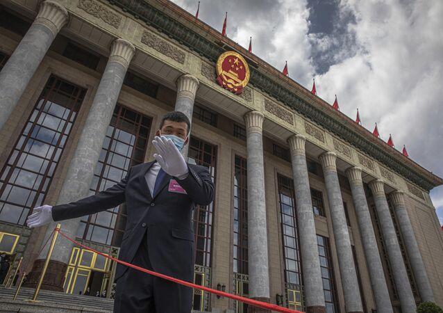 الجلسة الثانية للمجلس الوطني لنواب الشعب الصيني في قاعة الشعب الكبرى في بكين، الصين 25 مايو 2020