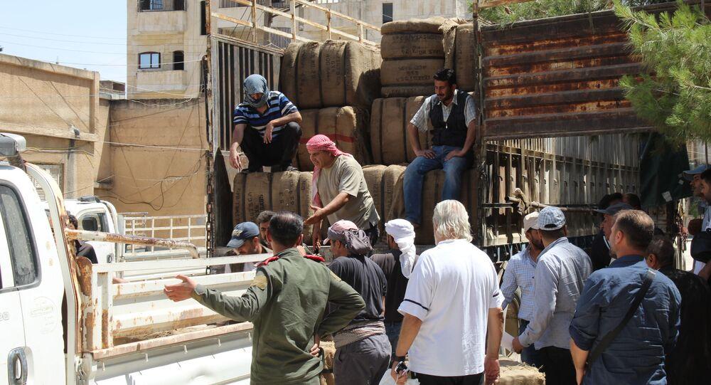 تسويق محصول القمح إلى مراكز مؤسسة الحبوب، سوريا