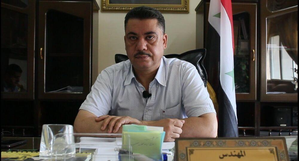 مدير مديرية الزراعة والإصلاح الزراعي الحكومية في محافظة الحسكة المهندس رجب سلامة