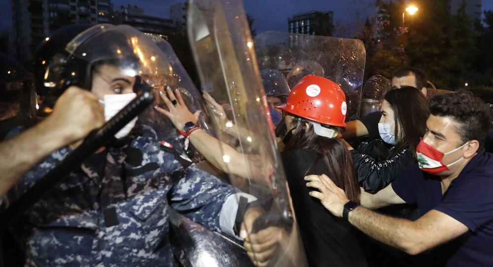 مظاهرات مناهضة للحكومة اللبنانية في بيروت، لبنان  28 مايو 2020