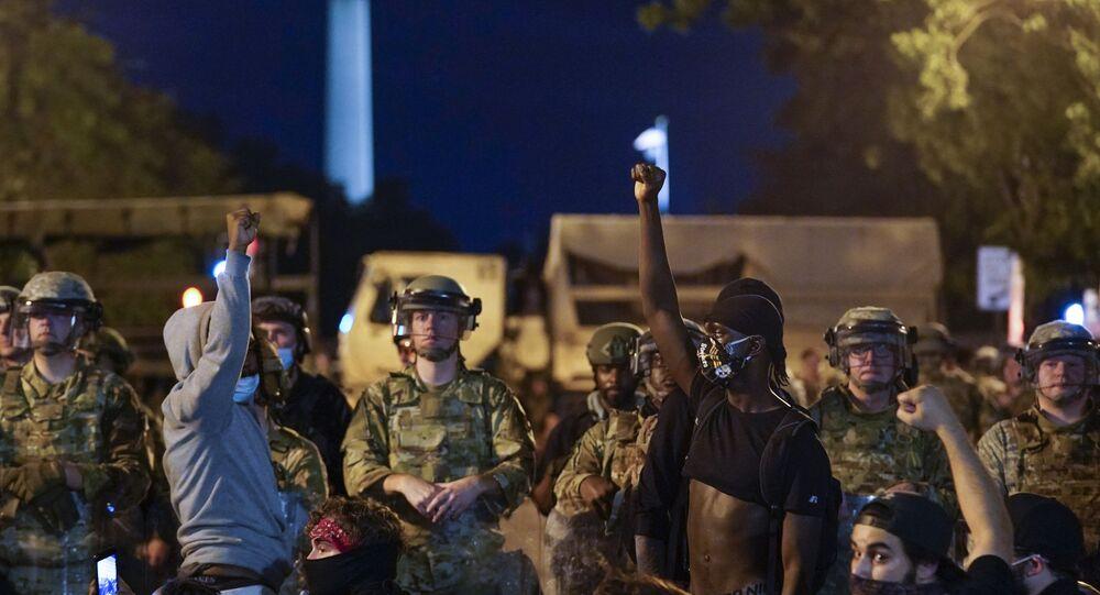 البيت الأبيض محاصر أثناء احتجاجات «جورج فلويد» في واشنطن، الحرس الوطني الأمريكي، الولايات المتحدة 4 يونيو 2020