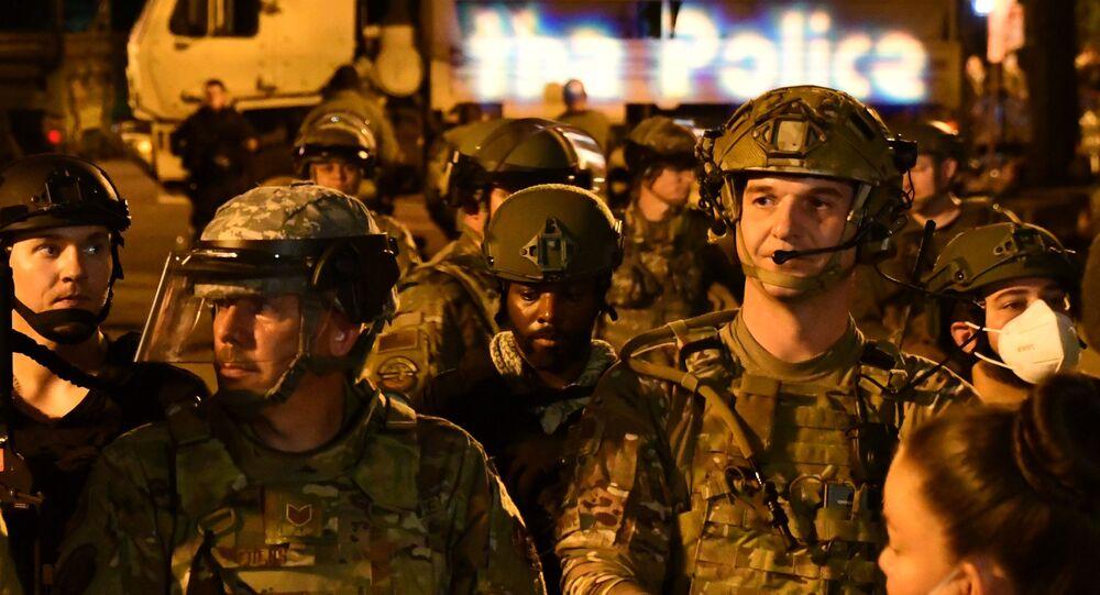 البيت الأبيض محاصر أثناء احتجاجات «جورج فلويد» في واشنطن، الحرس الوطني الأمريكي، الولايات المتحدة  3 يونيو 2020