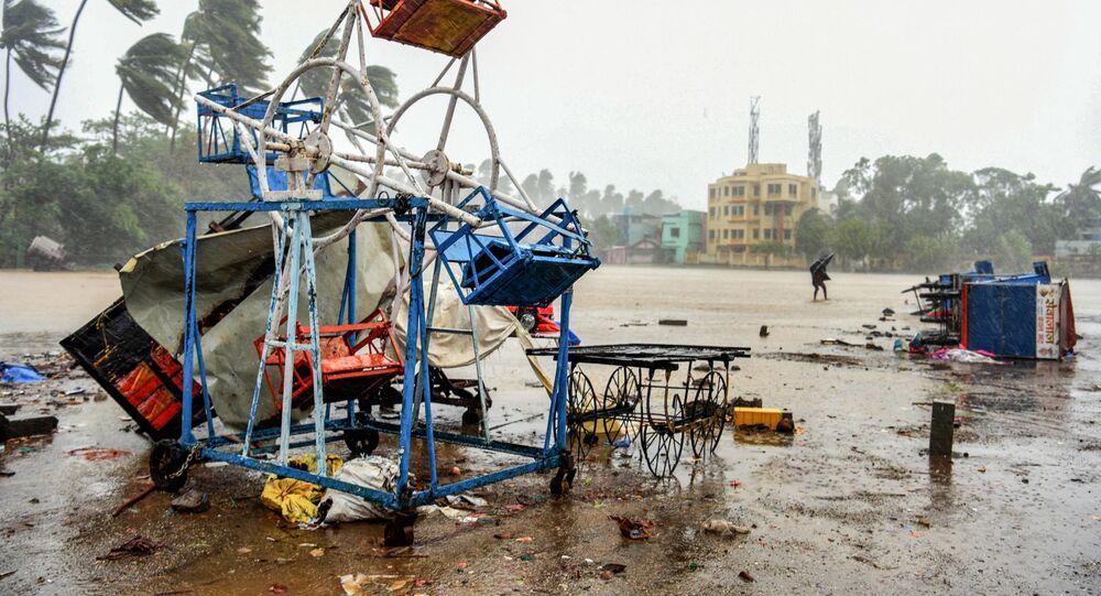 تداعيات إعصار نيسارغا على الساحل الغربي من الهند 3 يونيو 2020