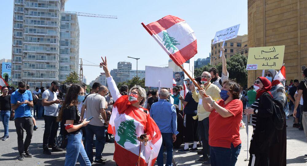 تظاهرة في بيروت للمطالبة بانتخابات نيابية مبكرة