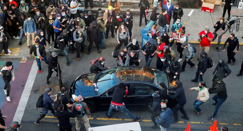 احتجاجات في مدينة سياتل بولاية واشنطن في أمريكا