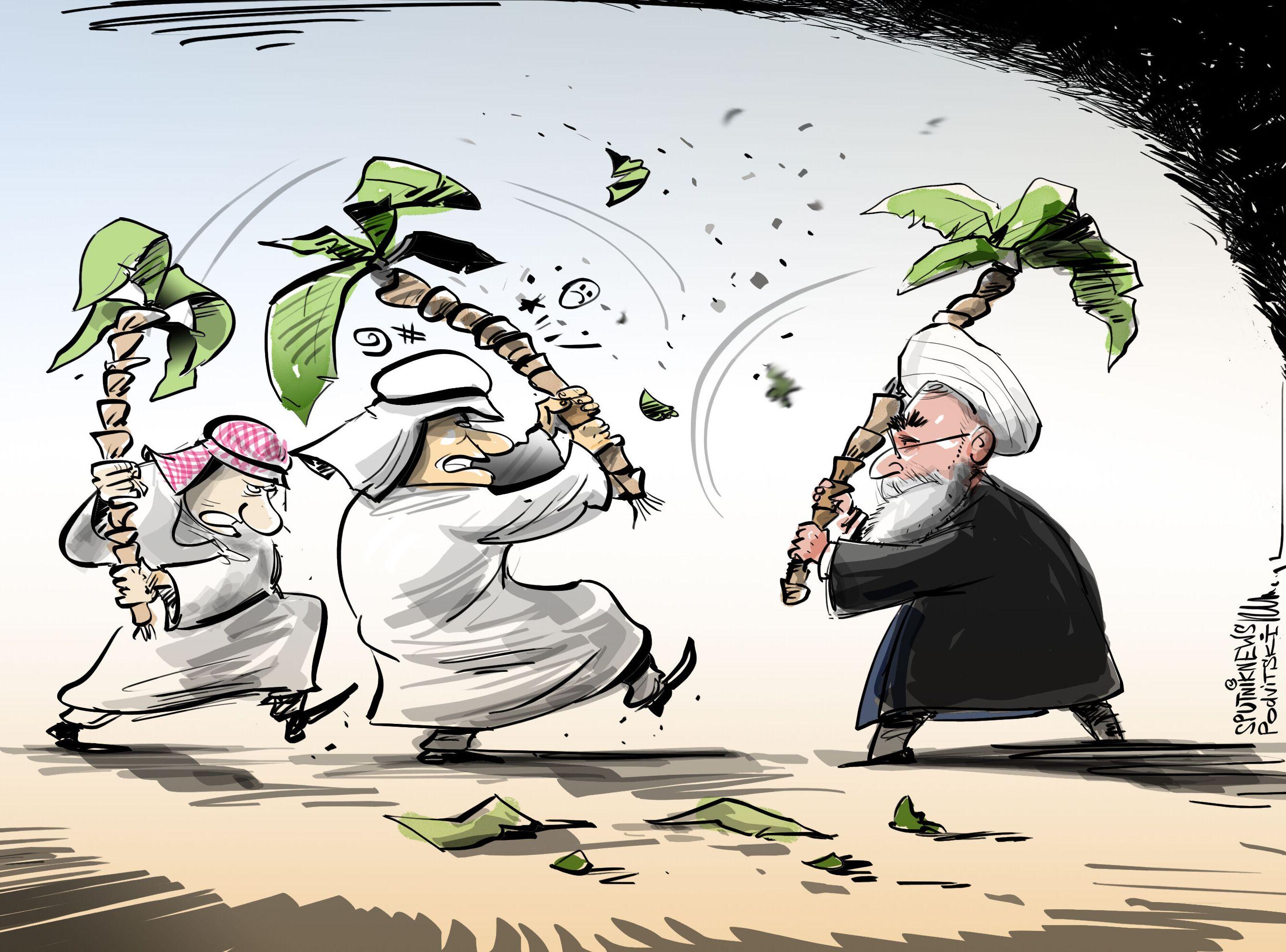 حرب النخيل بين إيران والخليج