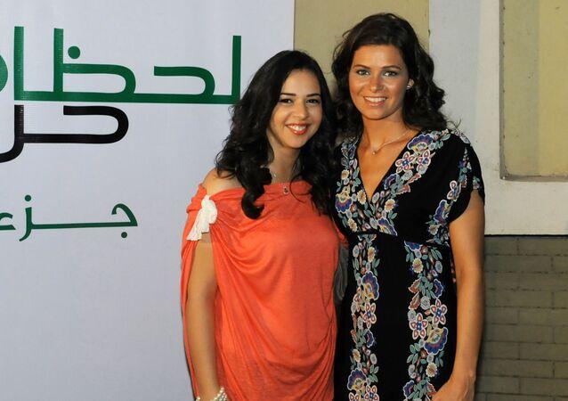 الفنانات المصريتان يسرا اللوزي وإيمي سمير غانم