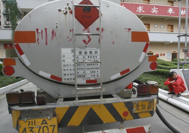 شاحنة لنقل الغاز